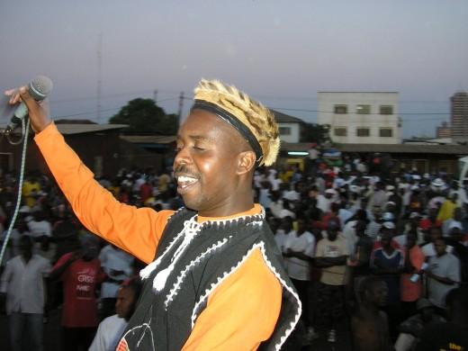 James Ngoma on stage